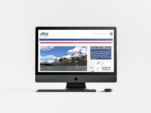 branded intranet homepage